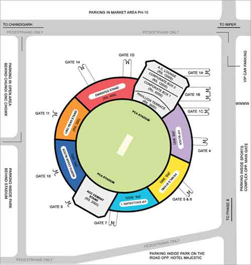 PCA Stadium - Kings XI Punjab Tickets