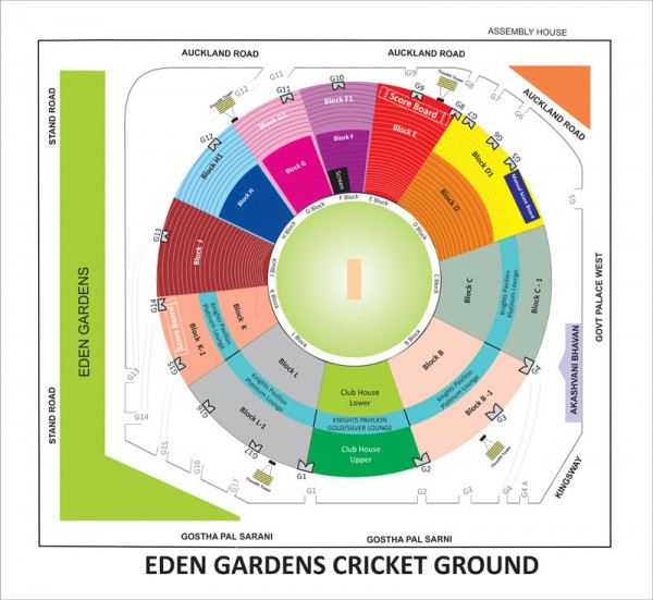 Eden Gardens - Kolkata Knight Riders Tickets